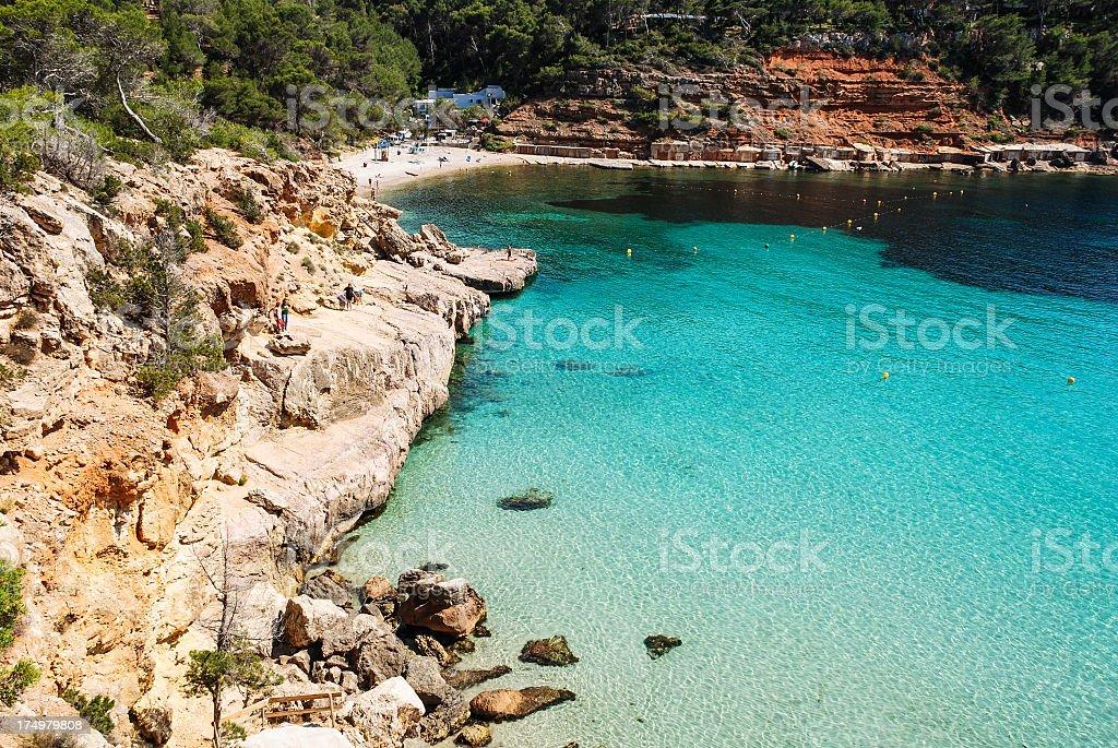 Bay of Ibiza stock photo