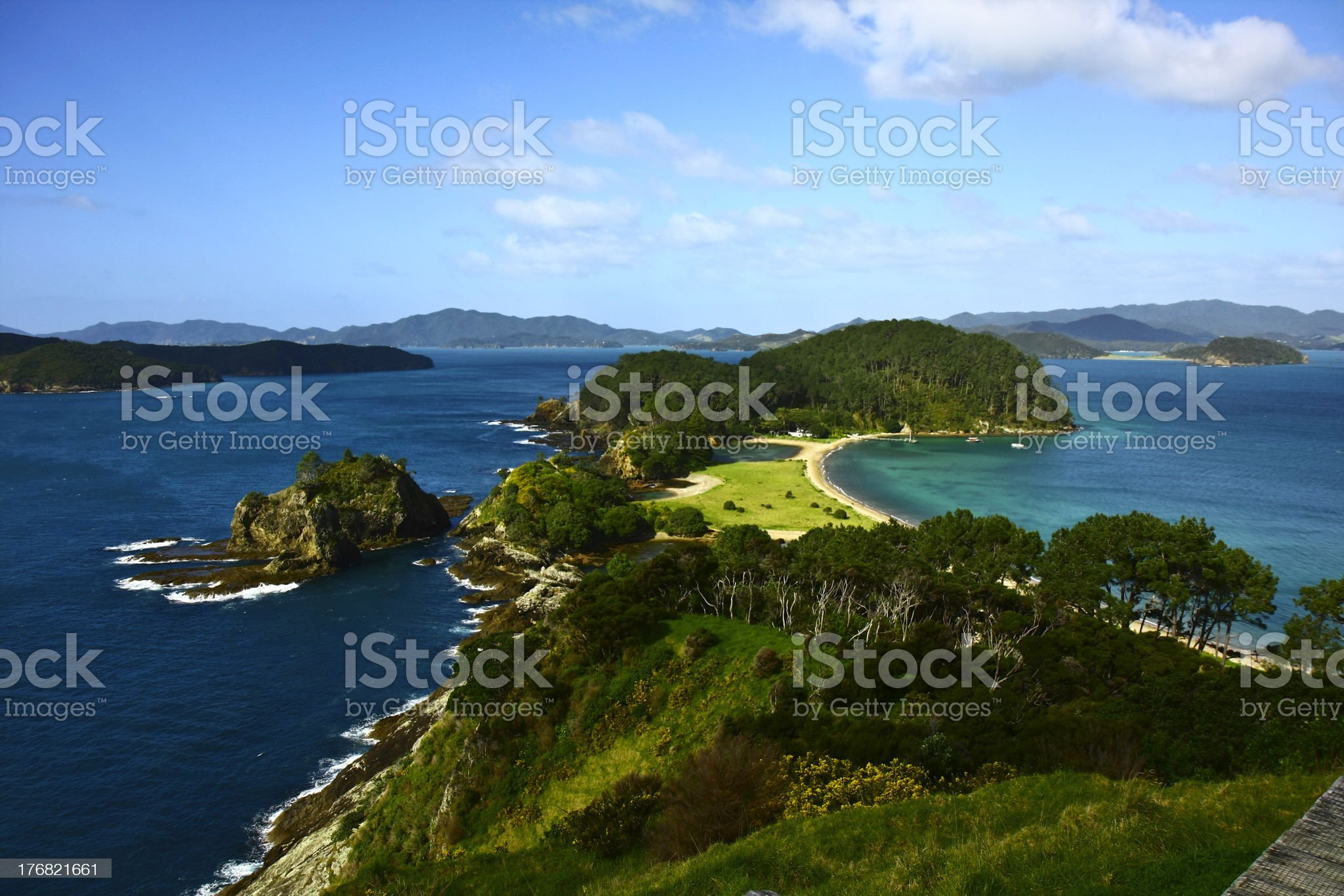 Bay of Islands in New Zealand royalty-free stock photo