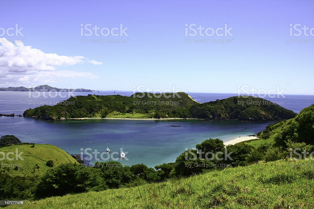 Bay of Islands, New Zealand stock photo