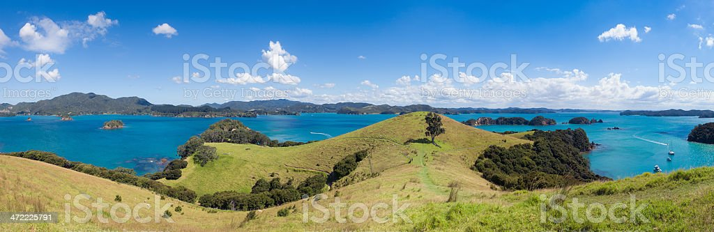 Bay of Islands Panorama stock photo