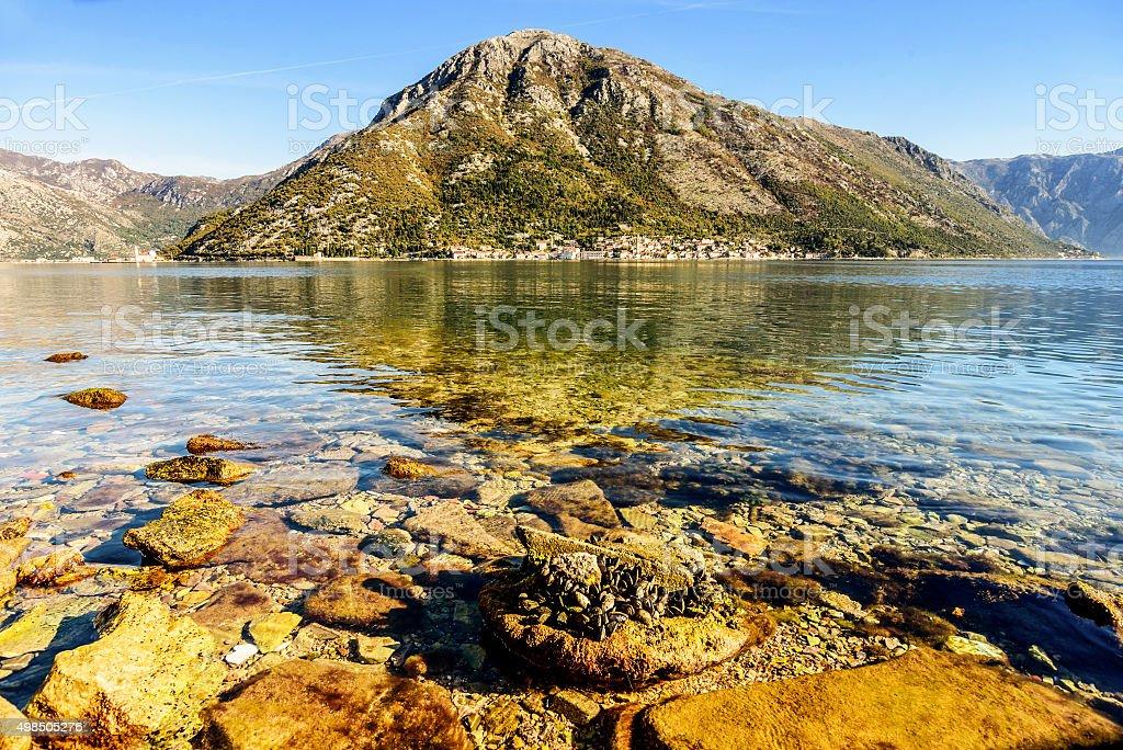 Bay of Kotor, Perast, Montenegro stock photo