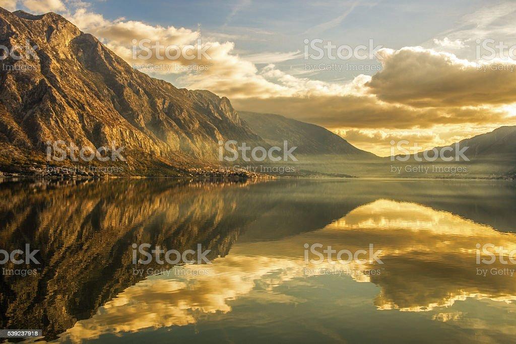 Bay of Kotor stock photo