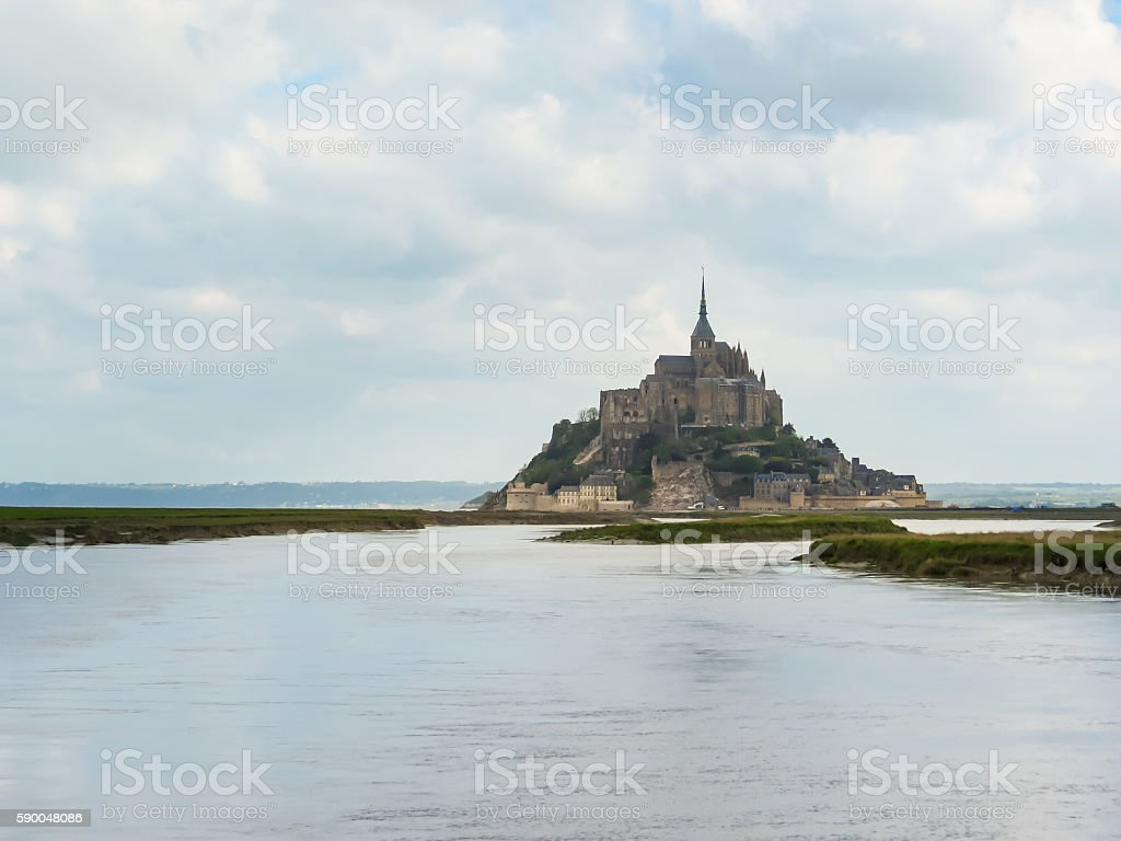 Bay of Mont Saint-Michel, France stock photo