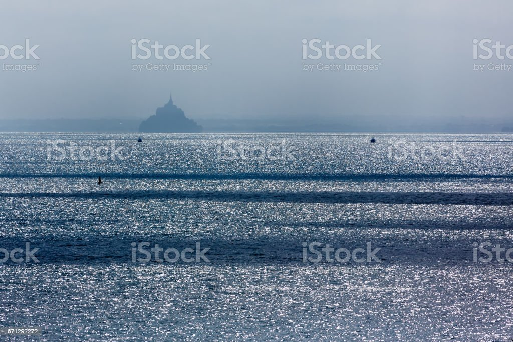 Bay of Mont Saint-Michel, Normandy, France stock photo