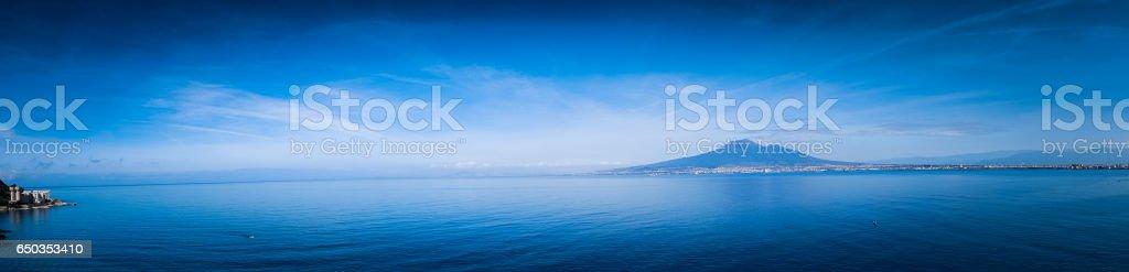 Bay of Naples and Vesuvius stock photo
