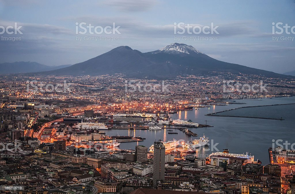 Bay of Naples royalty-free stock photo