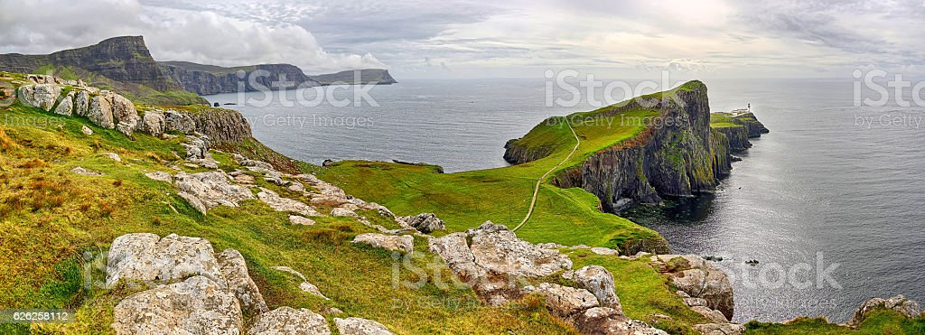 Bay of Neist Point (Isle of Skye, Scotland) stock photo