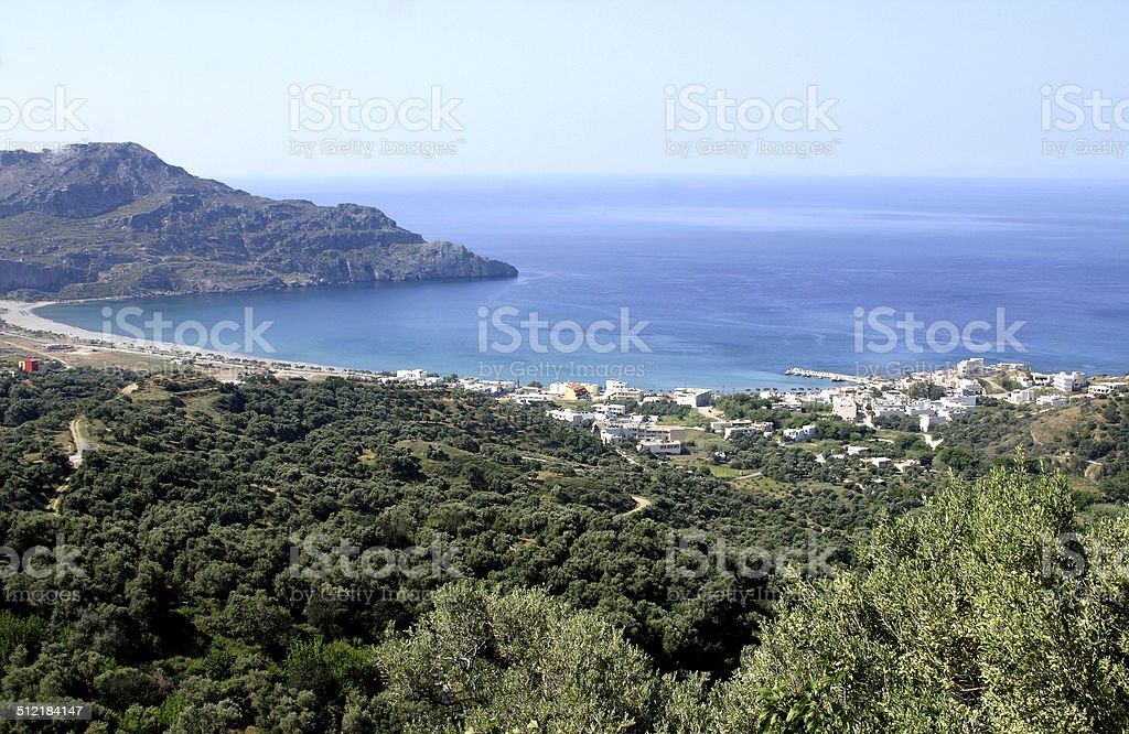 Bay of Plakias, Crete, Greece stock photo