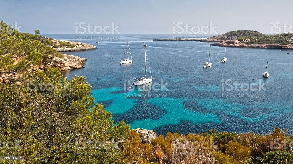 Bay of Portinatx stock photo
