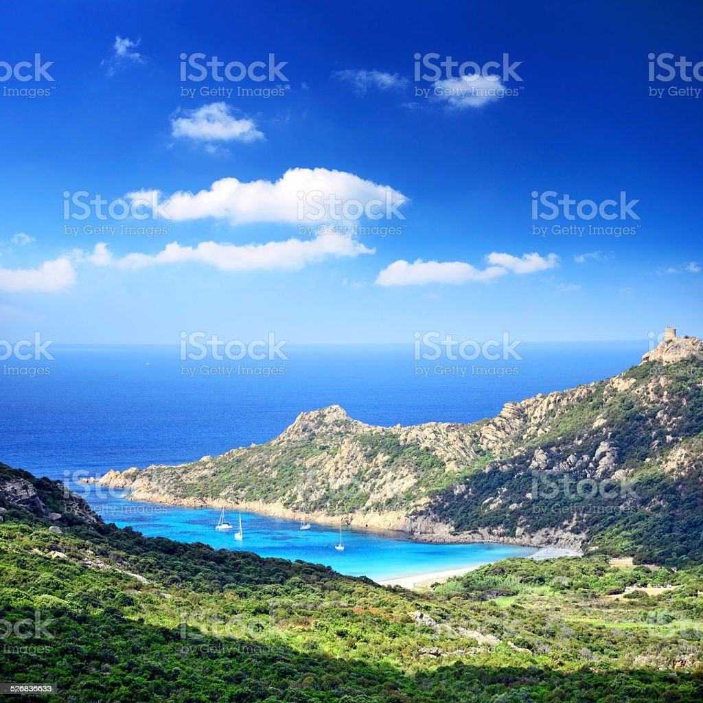 Bay of Roccapina stock photo