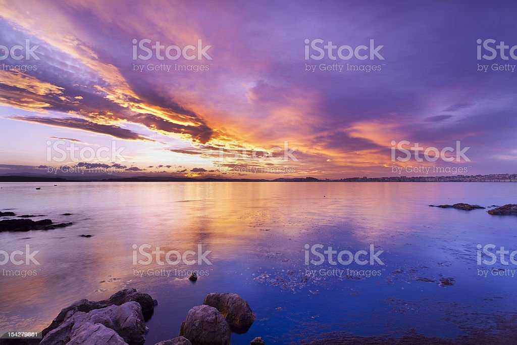 Bay of Santander royalty-free stock photo