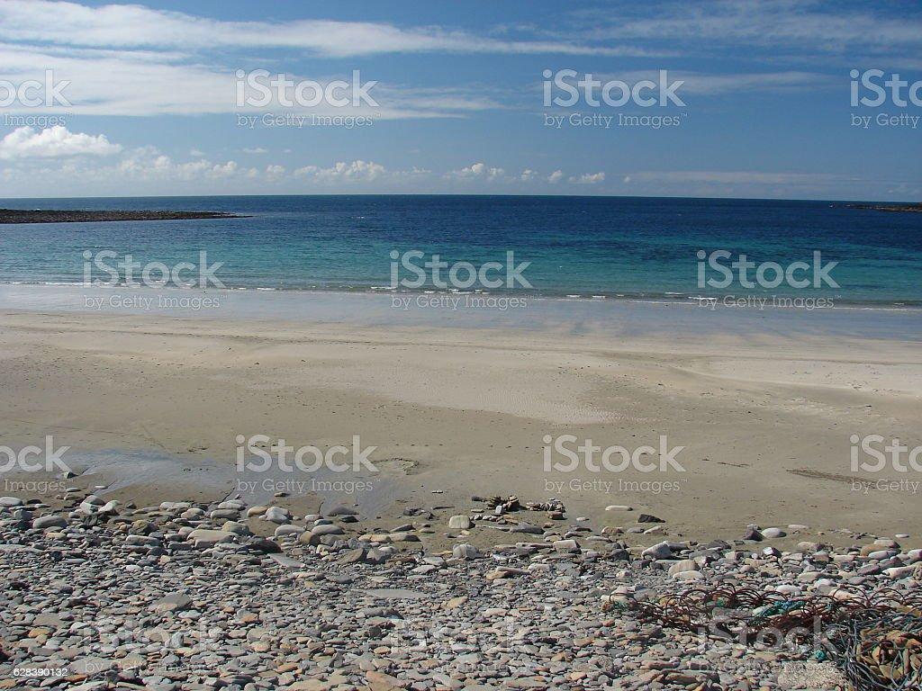 Bay of Skail Scotland stock photo