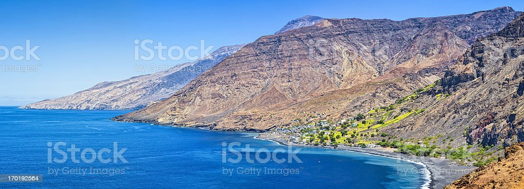 Bay of Tarrafal de Monte Trigo - Cape Verde stock photo