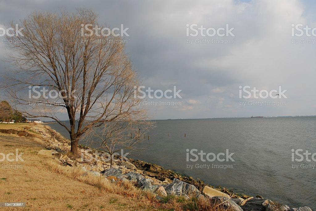 Bay Overcast stock photo