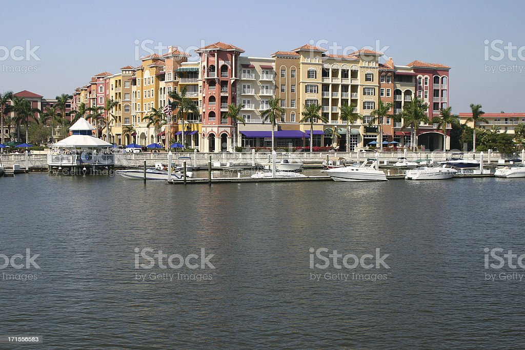 Bay Side Condos royalty-free stock photo