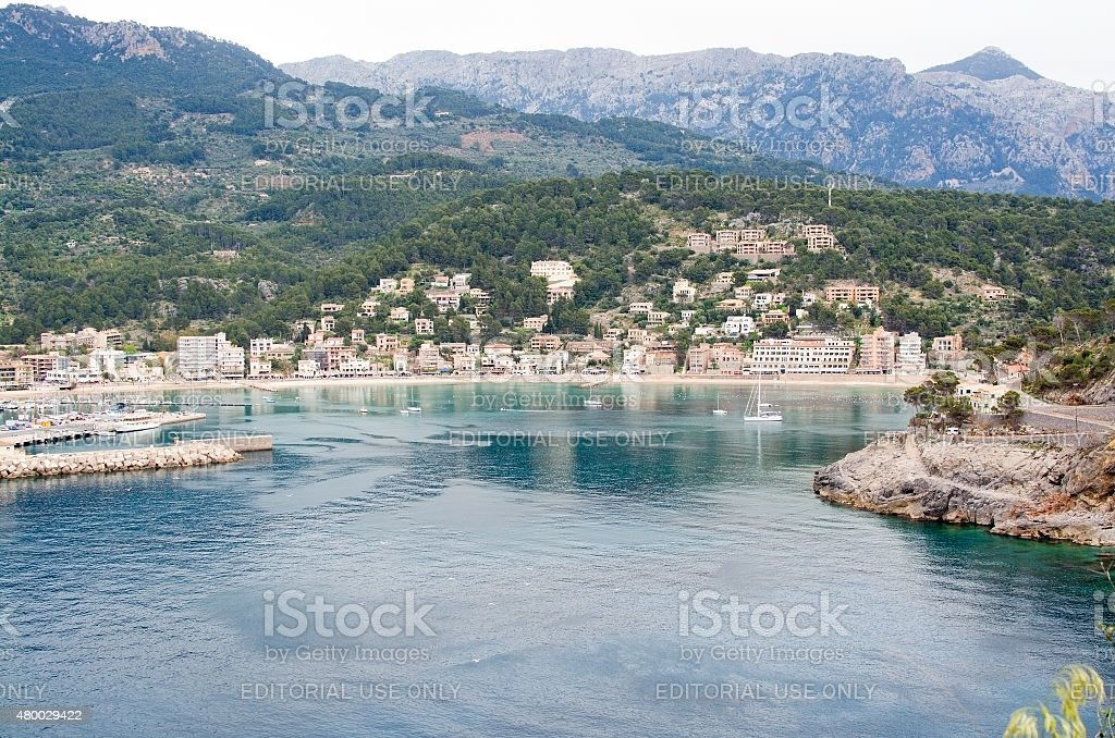 Bay view Port de Soller stock photo