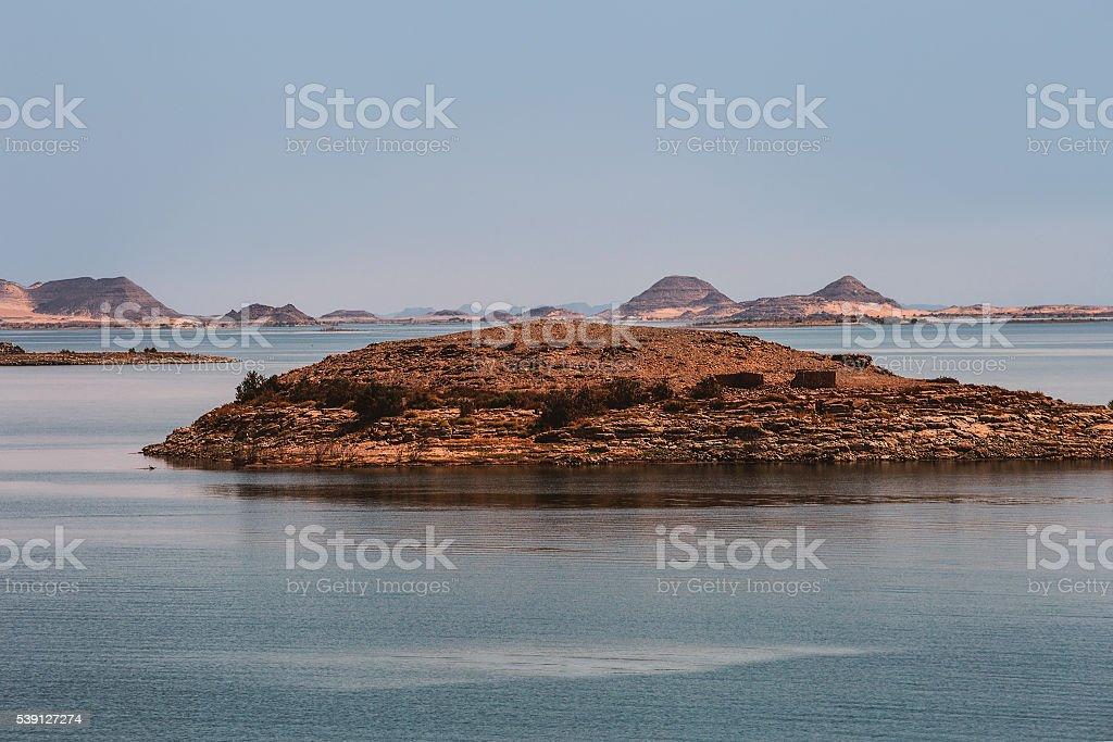 Bay water lake island stock photo
