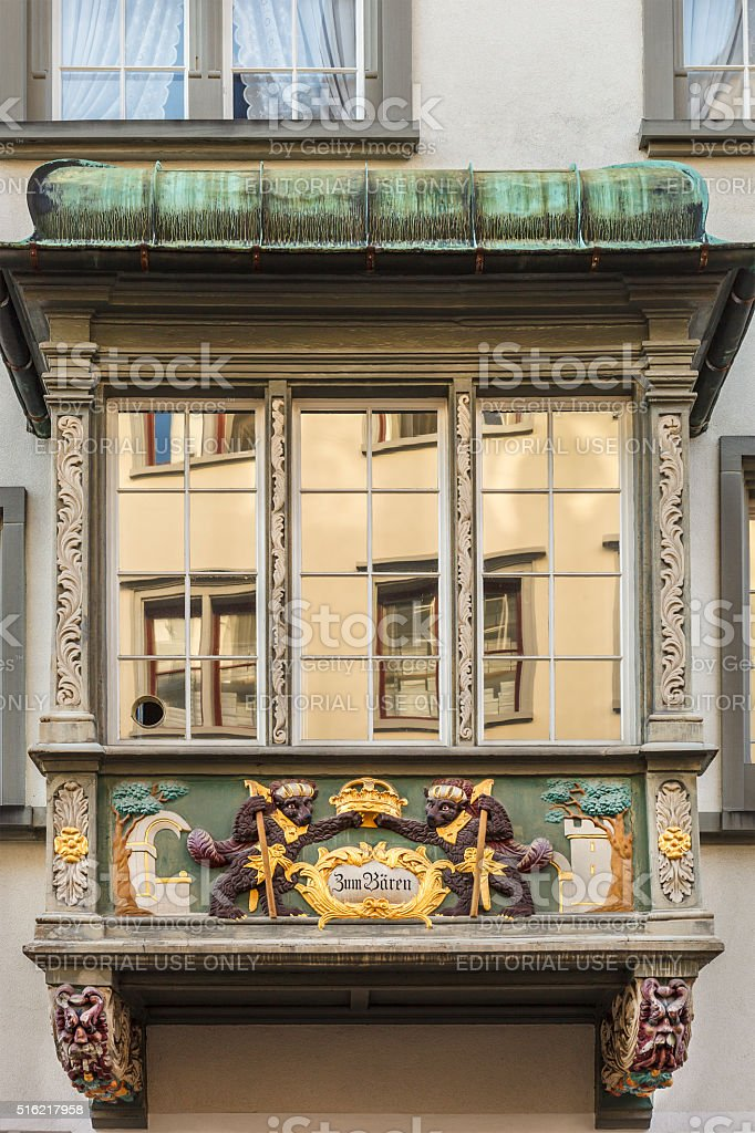 Bay Window, St Gallen stock photo