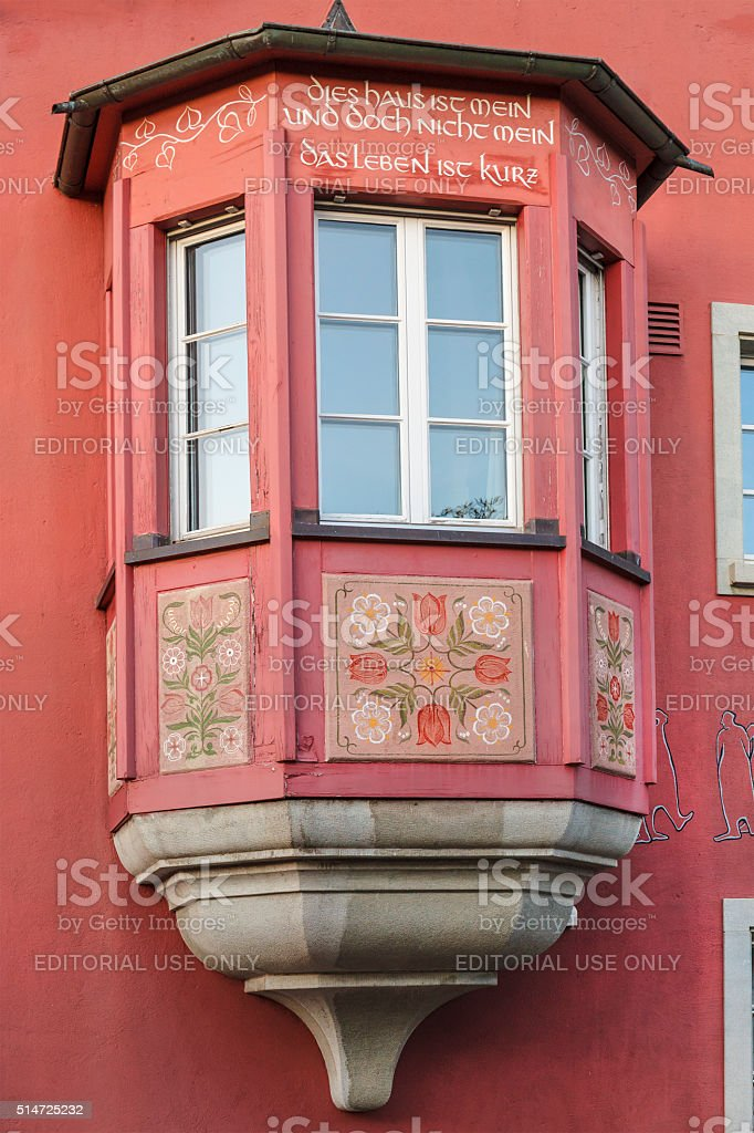 Bay Window, Steckborn stock photo