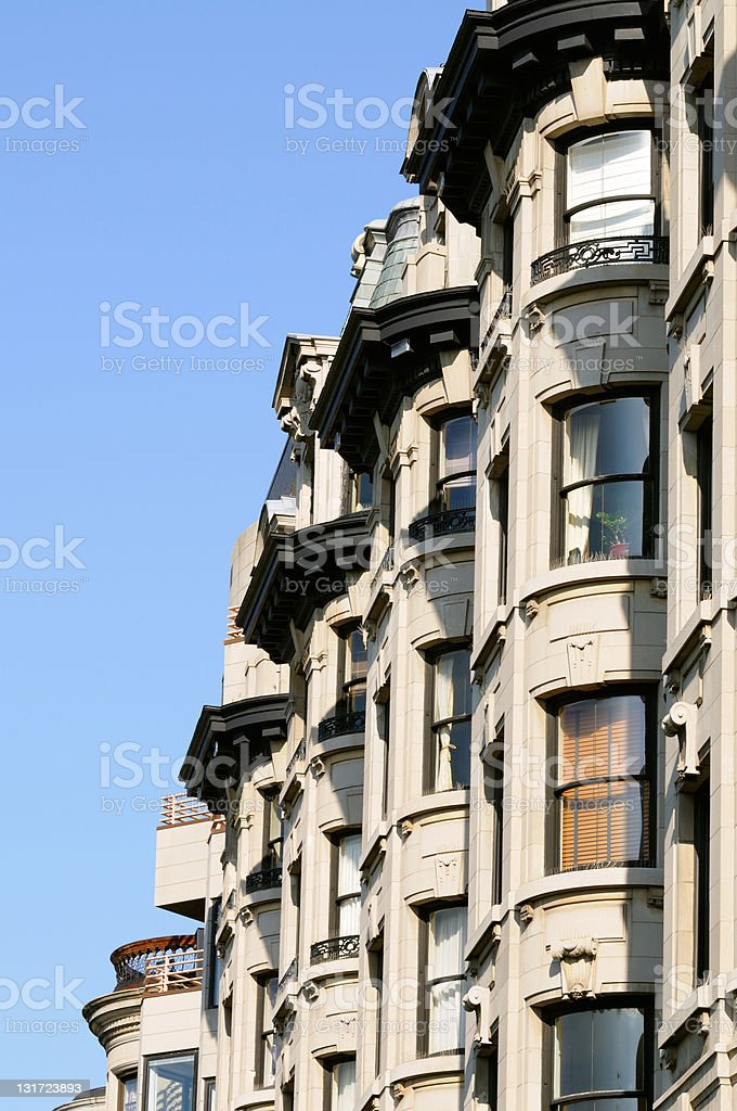 Bay Windows royalty-free stock photo