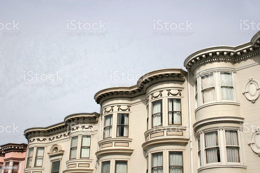 SF bay windows royalty-free stock photo
