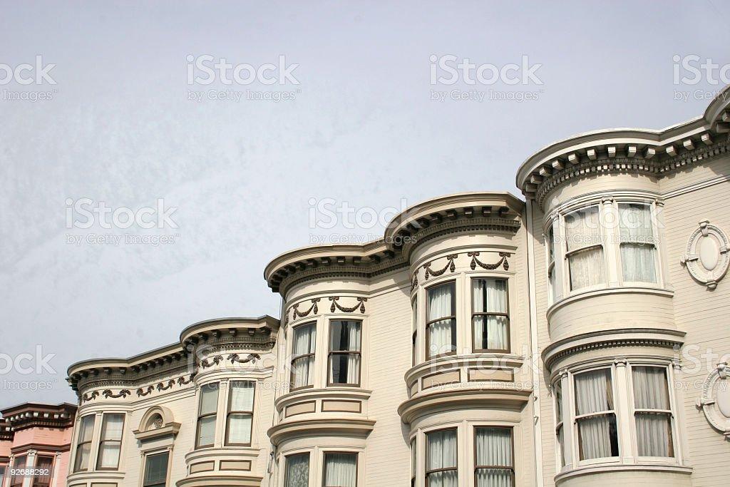 SF bay windows stock photo