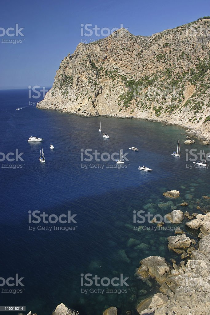 Bay with boats royalty-free stock photo