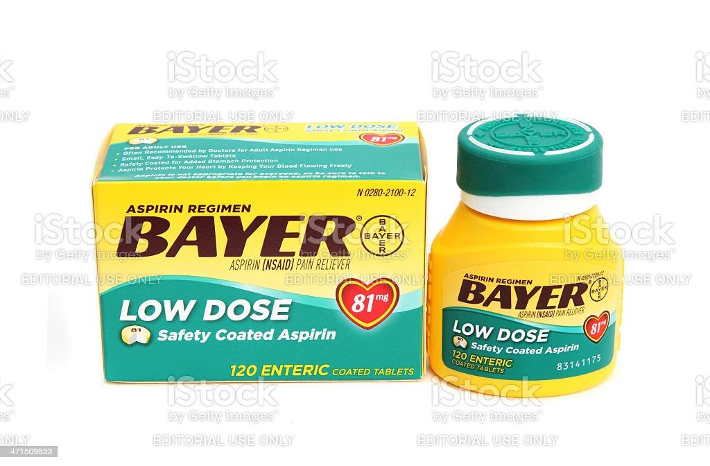 Bayer Low Dose Aspirin royalty-free stock photo