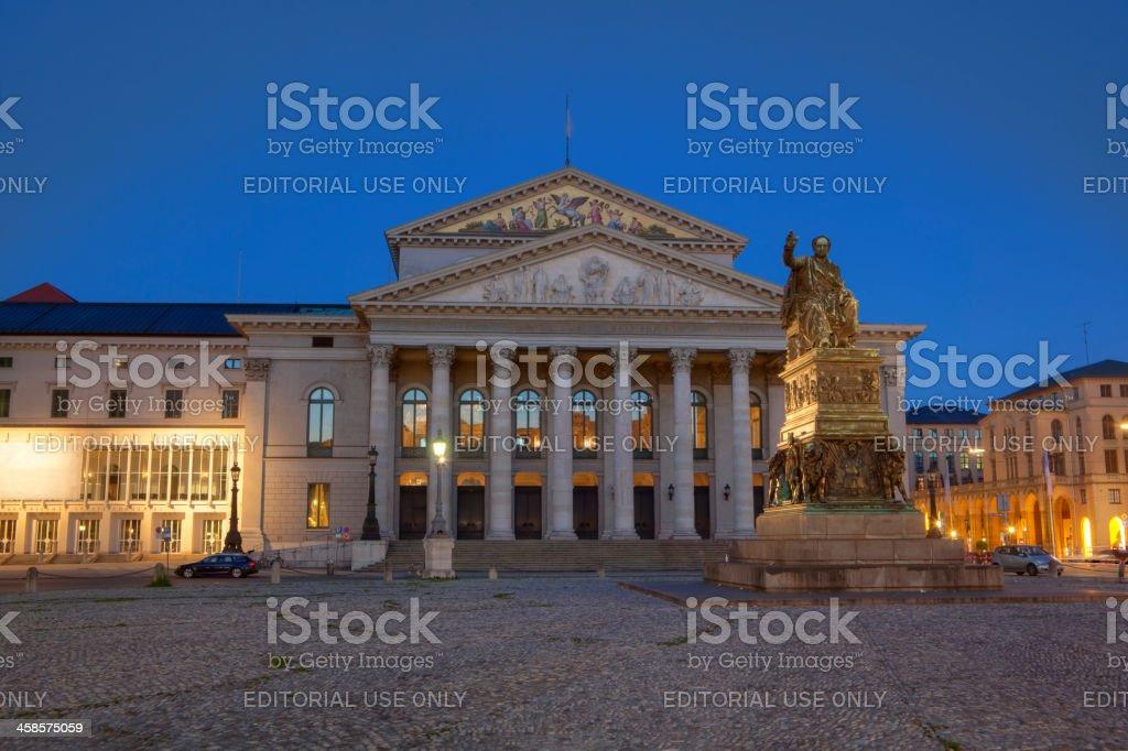 'Bayerische Staatsoper' München - Opera in Munich stock photo