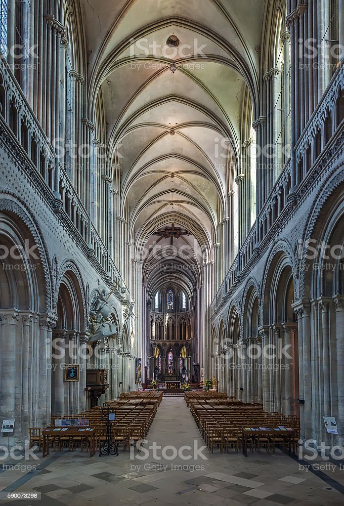 Bayeux Cathedral, France stock photo