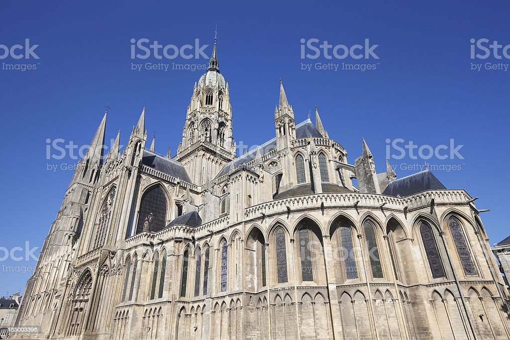 Bayeux cathedral stock photo