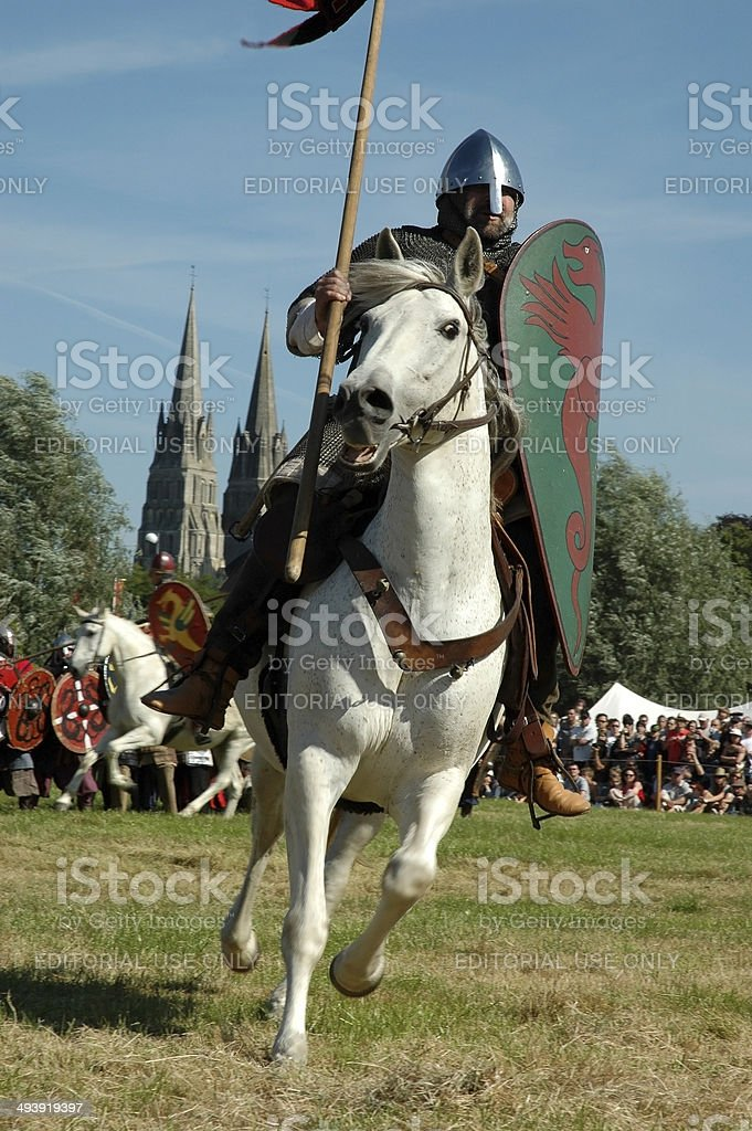 Bayeux Medieval Festival in France stock photo
