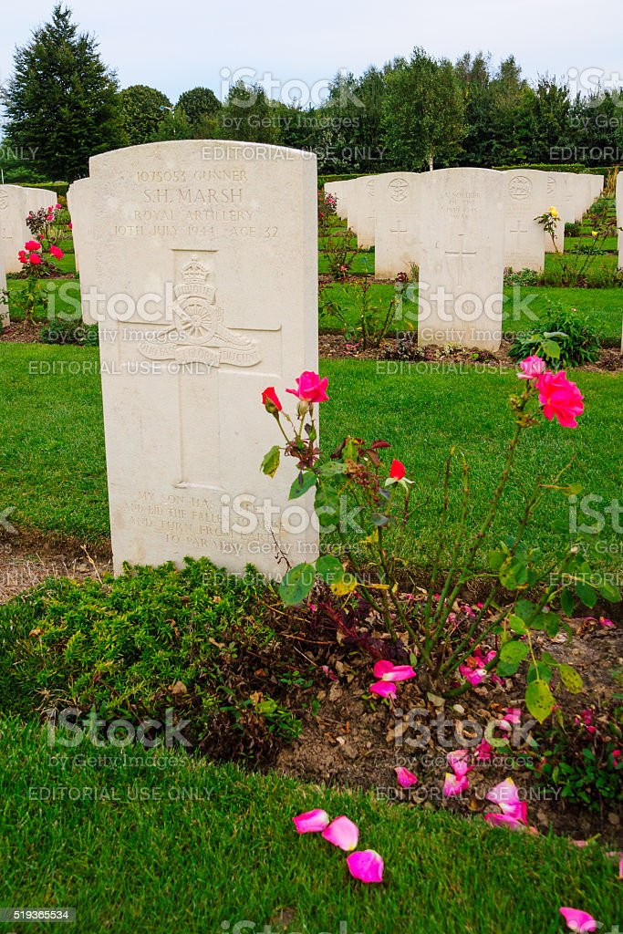 Bayeux WWII memorial stock photo