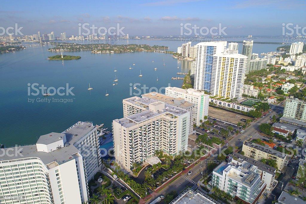 Bayfront condominiums Miami Beach stock photo