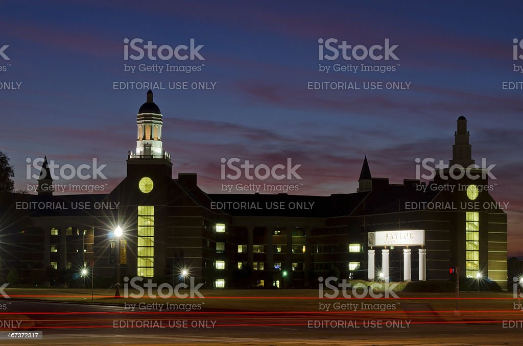Baylor University Sciences Building at Dusk royalty-free stock photo