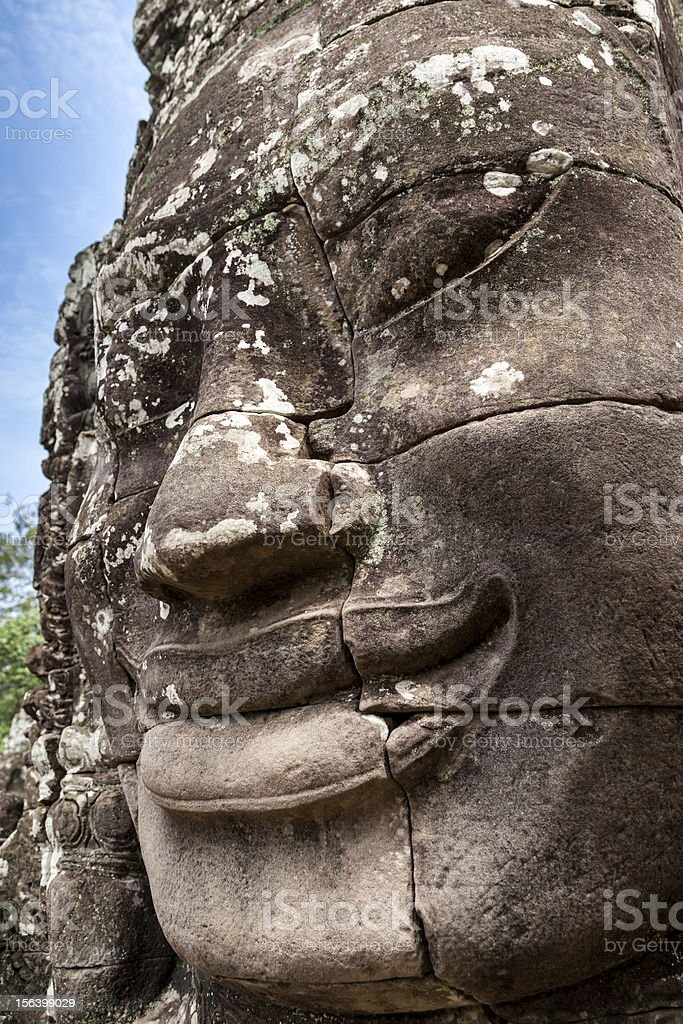Bayon Buddha , Siem Reap, Cambodia, royalty-free stock photo