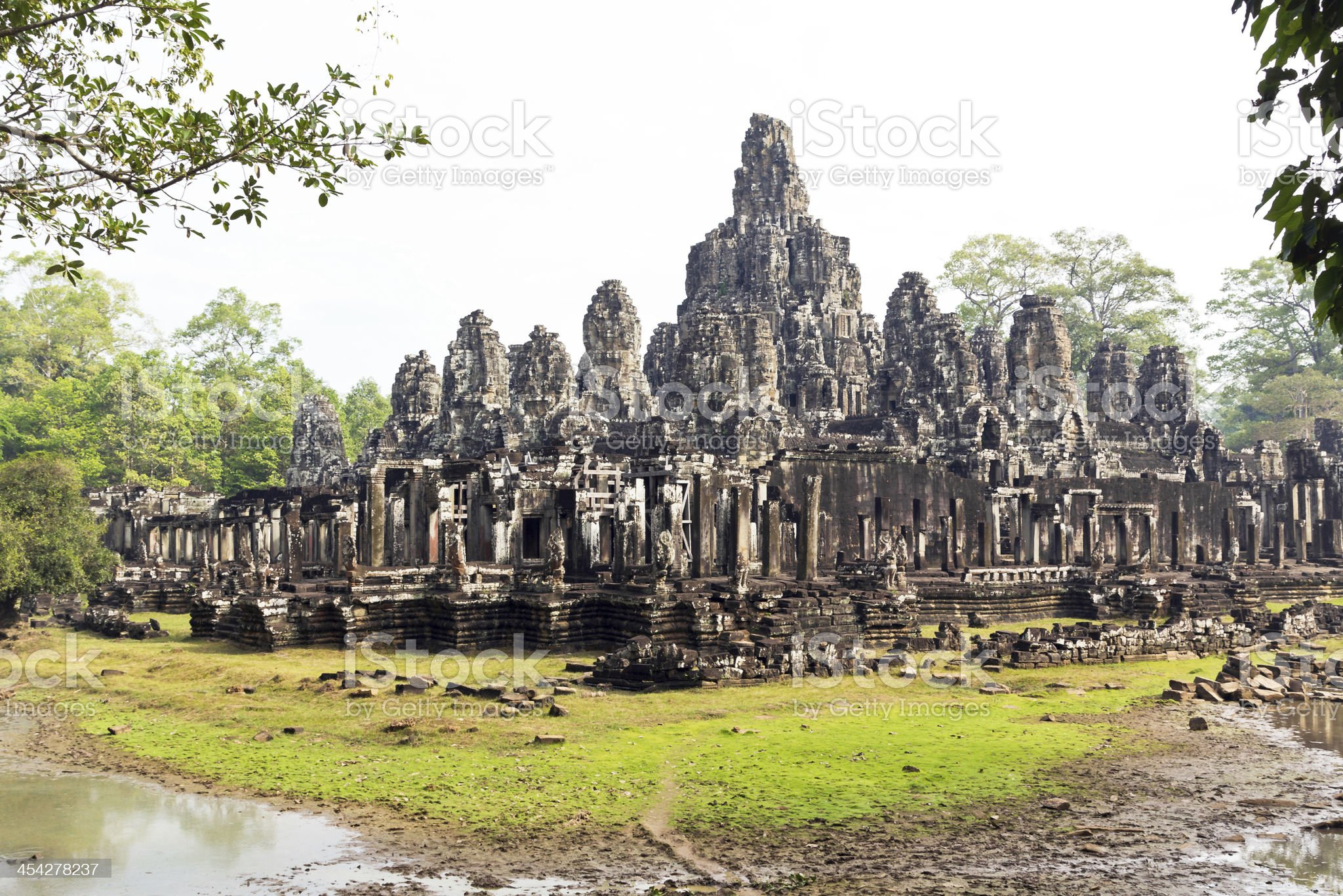 Bayon Buddhist Temple Siem Reap Cambodia royalty-free stock photo
