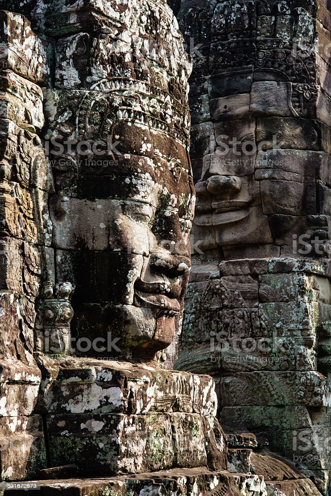 Bayon face stock photo