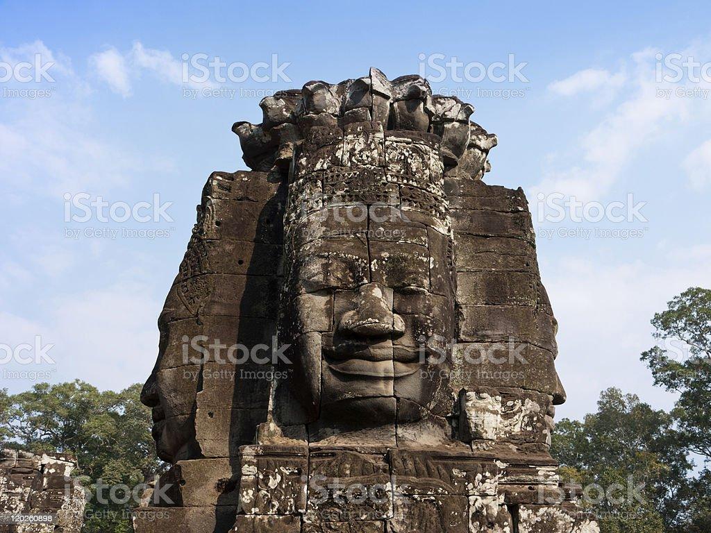 Bayon smiling face, Angkor Thom Cambodia royalty-free stock photo