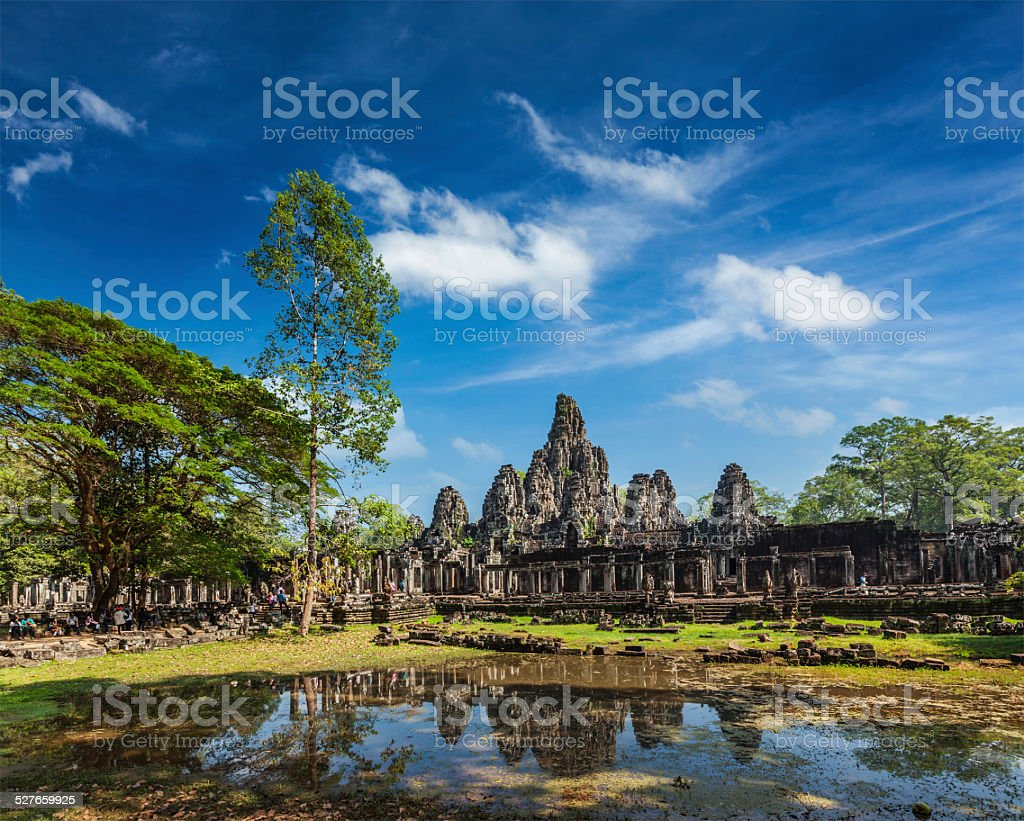 Bayon temple, Angkor Thom, Cambodia stock photo