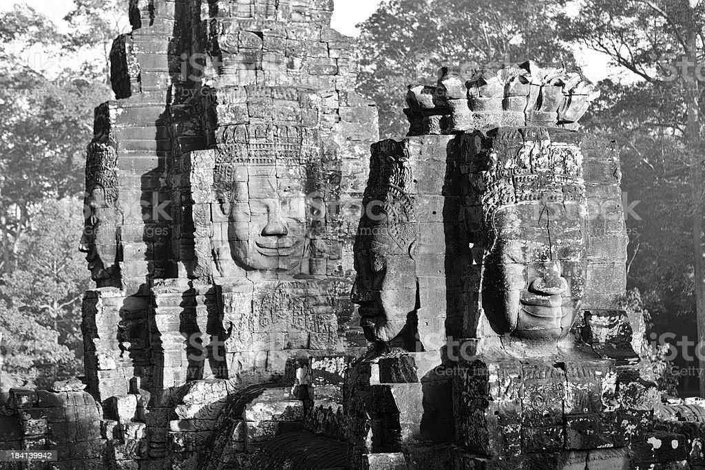 Bayon temple - Angkor Wat, Siem Reap royalty-free stock photo