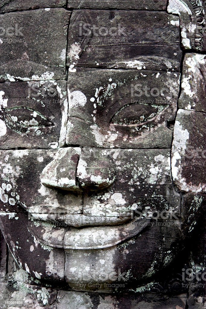 Bayon Temple Face royalty-free stock photo