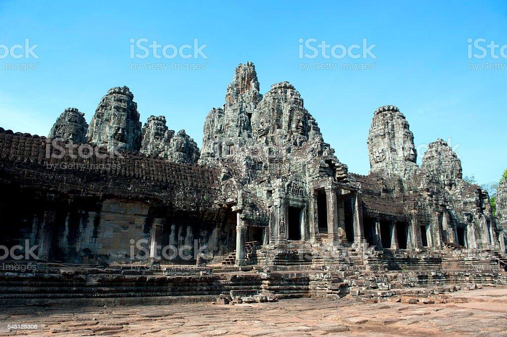 Bayon Temple in Angkor Thom, Cambodia stock photo