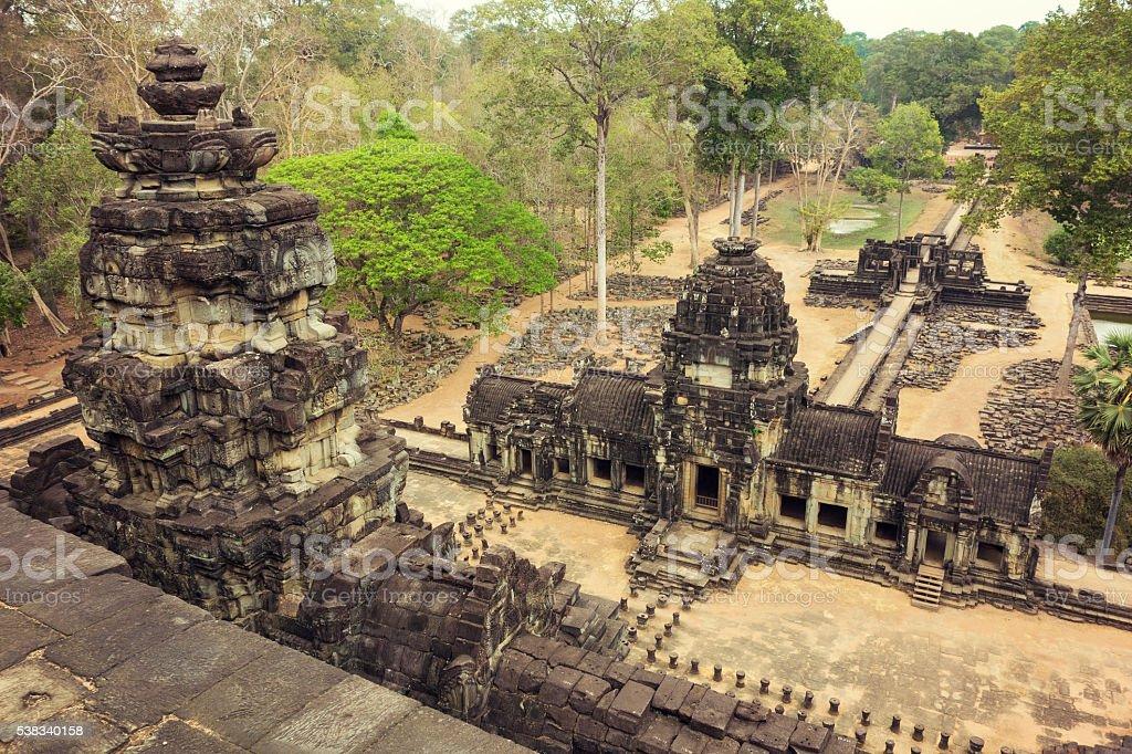Bayon Temple in Angkor Wat stock photo