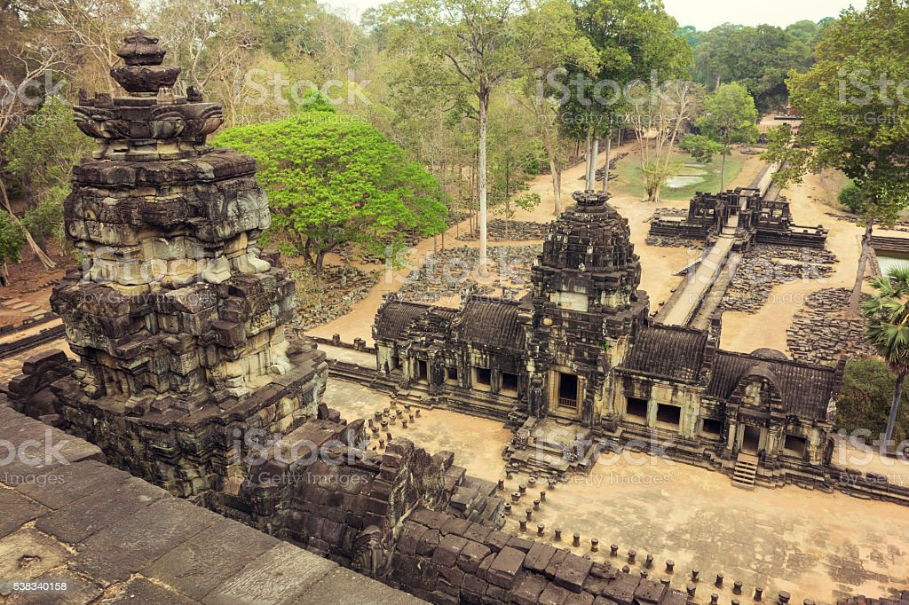 Bayon Temple in Angkor Wat stock photo