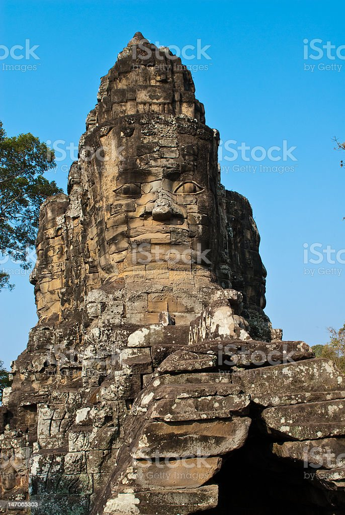 Bayon temple tower 5 royalty-free stock photo