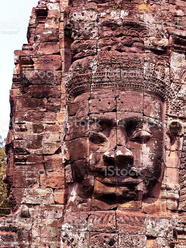 bayon-angkor II stock photo