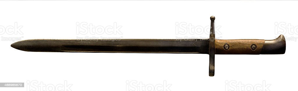 Bayonet isolated on white stock photo