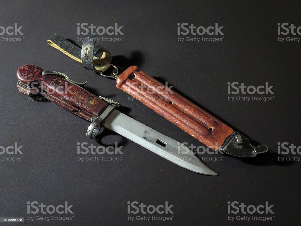 AKM bayonet knife stock photo