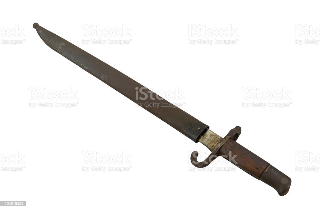 Bayonet stock photo
